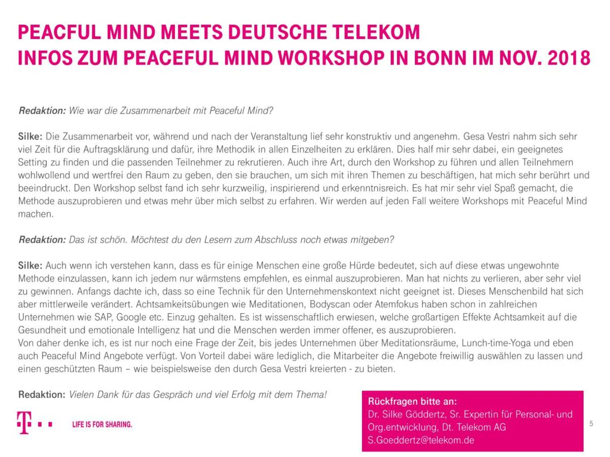 Peaceful Mind Workshop Dt Telekom5